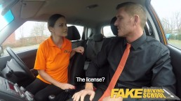 Fake Driving School Backseat blowjobs and deep creampie for super sexy minx