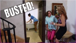 BANGBROS - Stepmom Julia Ann Threesome & Latina Maid Abby Lee Brazil