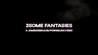 3SOME FANTASIES - HARD ASS FUCKING  CUMSHOTS  PORNMUSICVIDEO Brunette young