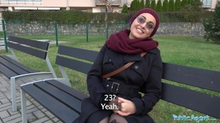 Preview 3 of Public Agent Afghan beauty pays to fuck a big cock