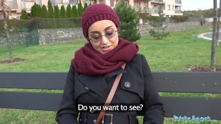 Preview 6 of Public Agent Afghan beauty pays to fuck a big cock