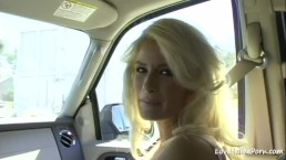 Blonde girl got bent over after riding too