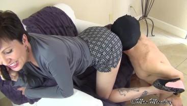 Cuck Hubby Sucks Out My Boyfriend's Creampie - femdom cuckold humiliation