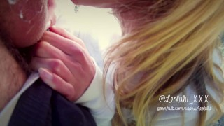 Preview 5 of Young Couple Caught Fucking in Public - Amateur Couple LeoLulu