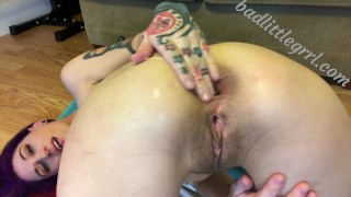 Close-up fisting and gaping - FULL VID AT BADLITTLEGRRL.COM  close up extreme anal gape huge toys anal cum lube anal cum lube asshole closeup gaping messy kink fisting gape anal huge gape huge insertion gaping asshole huge dildo