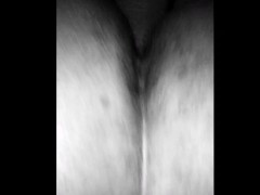 A black & white, late night pussy pounding