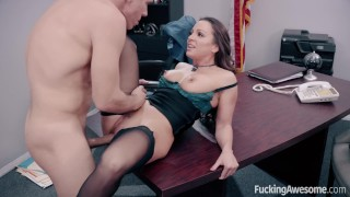 FuckingAwesome - Secretary Abigail Mac fucks her boss
