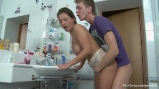 Fuck in hard anal teens bathroom teen blowjob