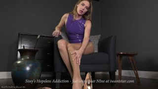 Sissy's Hopeless Addiction - Latex Femdom POV teaser ft. Star Nine  pantyhose kink petite latex point of view poppers sissy training ruined orgasm high heels chastity femdom blonde