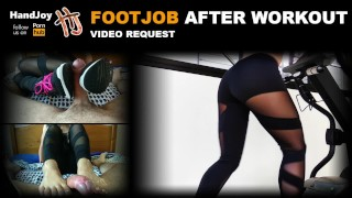 HandJoy * Footjob after workout sneakers, yoga pants, feet * videorequest