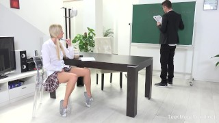 FuckStudies.com - Karolina - Blonde babe gets help and orgasm Style sucking