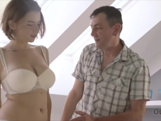 Preview 5 of OLD4K. Old wise gentleman with a young beautiful girl