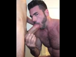 Billy Santoro hosts a hot Grindr fuck
