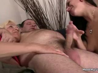 Parents seduce his young lady