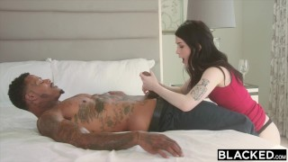 Two bbc's evelyn claire takes on blacked licking blacked