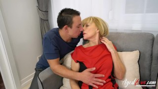 AgedLovE Blonde Mature Fucked Hard By Youngster Old granny