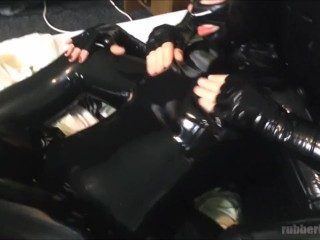 Preview 3 of latex catsuit sex - fucking young horny rubberdoll