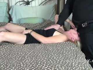 Carol Cox Takes Good Oral Care Of A Larger Fan