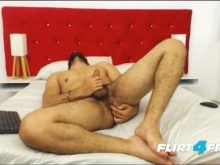 Ecio Murphy on Flirt4Free - Hairy Dude Fingers His Ass and Cums