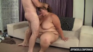 Heavy Harlot Erin Green Has Her Mouth and Pussy Fucked