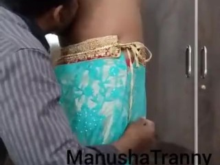 Remove my saree - Escort girl Manusha Tranny being enjoyed by a client