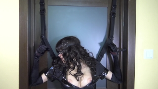 Tied police woman & fuck her with ohmibod and LELO remote control vibrators Public bent