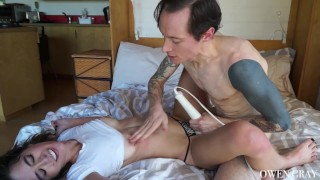 Passionate Couple Rough Sex with Orgasms and Creampie Doggystyle sex