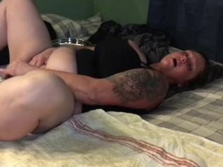 New Whore get fucked dildo & me take turns slut bored can't feel damn thing