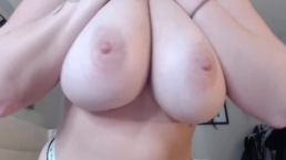 Horny brunette Ava Nicks with natural big tits gets cum