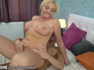 Stunning Mature Rides Young Stud's Cock and Eats Gooey Load