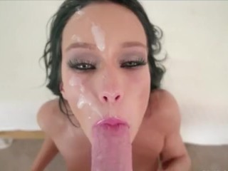 Balls Deep Throat Fucking after cum, throat pie compilation