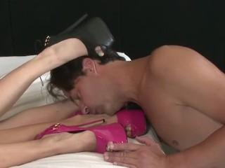"ErotiqueShoeSex - 2 girls, 4 sexy legs, 4 hot high heels, 9"" ERIC JOHN"
