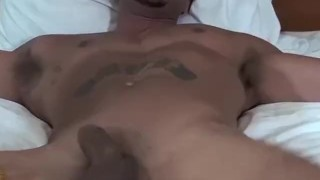 Muscular hunk Jose is tied to the bed and tickled hard porno