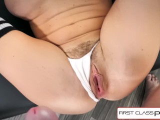 FirstClassPOV - Big booty Krissy Lynn is punished by a big dick, big boobs