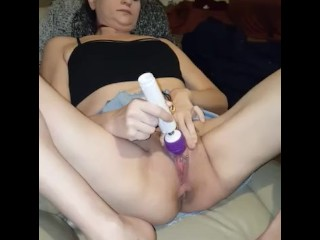 My little Russian pussy cumming many times with vibrator