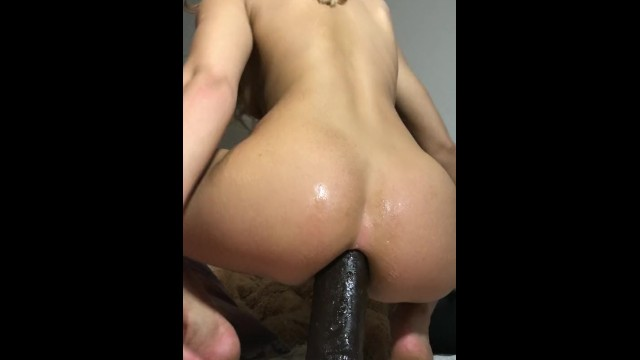 In my asshole - Girls4cock.com wrecking and altering my asshole with huge bbc