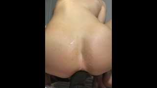 Blonde hot Teen forces 14inch BBC in her tight little ass Amateur me