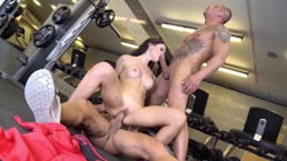 Сurvy bombshell sucks and rides coaches cocks and drinks their cum