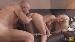 DADDY4K. Horny blondie wants to try someone little bit more experienced Lesbian on