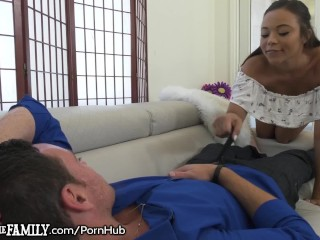 Blowjob while being assfucked with dildo