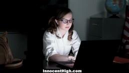 InnocentHigh - Adorable School Girl Fucks Her Professor