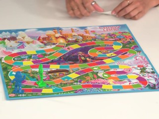 Topless Girls Playing Candy Land