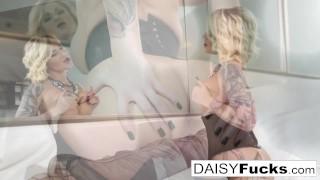 Monroe camera tattooed daisy for the pierced masturbates thick corset