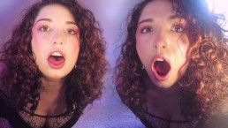 Twins burping in your ears - sexy bodystocking - drinking 3 liters of coke