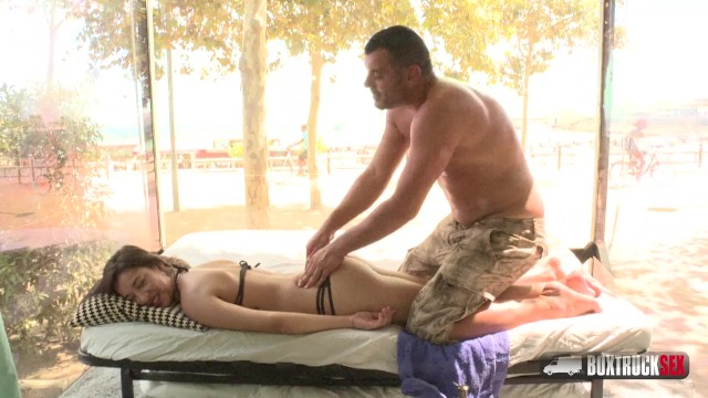Natural boobs escort barcelona Angie white gets a free massage in barcelona