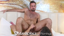 ManRoyale Porn watching interrupted with real fuck