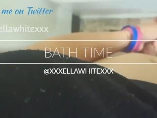 Bath Time With Asian Trans Woman Ella White