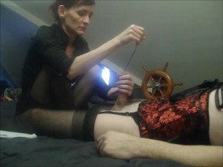 I Love My Hot Wife Who Dresses Me Up and Tortures My Cock