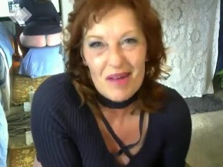 V52 Redhead Smoking teases until you cum in her mouth. with countdown
