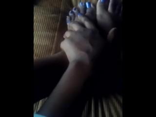 Brown feet